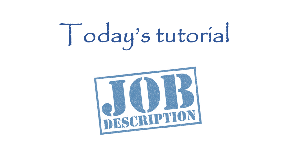 Job Descriptions tutorial – ERIC's Business Insider